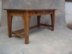 Library Table #615 Stickley Mission Oak Arts & Crafts Desk by chadwoodruff on Etsy https://www.etsy.com/listing/205653286/library-table-615-stickley-mission-oak