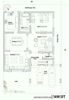 bedroom bath house plans family home plans home plans modular home ...