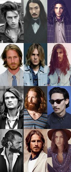 Hairstyle Trend: Men's Long Hair 2013.