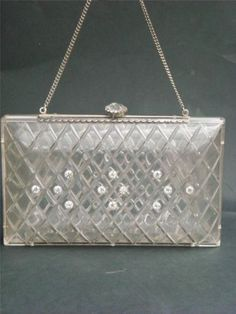 Vintage-1940s-Lucite-and-Rhinestone-Hand-Bag-Purse