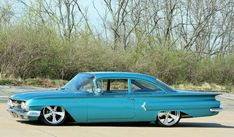 1960 Chevy Biscayne, really slick. Classic Hot Rod, Classic Cars, General Motors, Vintage Cars, Antique Cars, Volkswagen, Toyota, Old School Cars, Automobile