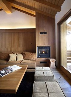 Warm and modern wood interior #architecture #wood #interior #furniture #design #home #home deco