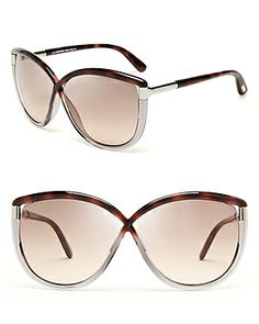 Tom Ford Abbey Oversized Sunglasses