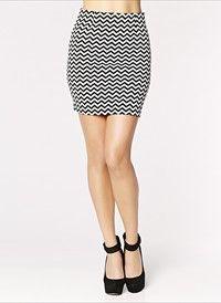 Chevron Print Skirt  #DYNHOLIDAY