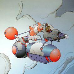 Moebius from Sci-Fi Art. Jean Giraud, Vaporwave, Frank Margerin, Illustrations, Illustration Art, Nogent Sur Marne, Moebius Art, Moebius Comics, Psychedelic Art