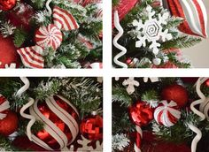 New White Christmas Tree Decorations Candy Canes Ideas White Christmas Tree Decorations, Christmas Tree With Snow, Pallet Christmas Tree, Christmas Candy, Christmas Holidays, Christmas Crafts, Christmas 2019, Christmas Ideas, Holiday Decor
