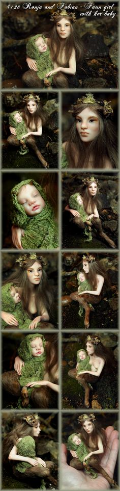 Nenúfar Blanco ~ #128 Ronja & Fabian - Fairy girl with her baby