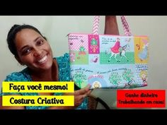 Como fazer uma bolsa simples - Passo a Passo - YouTube Diy Sac, Sewing Projects, Patches, Youtube, Reusable Tote Bags, Purses, Stitching, Lol, Fashion