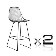 """Contour"" Steel Frame Powder Coated Bar Stool 75cm in Gloss Black (Set of 2) - AU$799 - https://www.simplybarstools.com.au/products/contour-steel-frame-powder-coated-bar-stool-75cm-in-gloss-black-set-of-2 – Simply Bar Stools - zinc, eletroplated, fixed leg bar stools. #Australia #Furnitures"