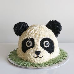 Panda buttercream cake