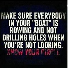 Friendship. trust  - Truth.  Your circle is probably smaller than you think.