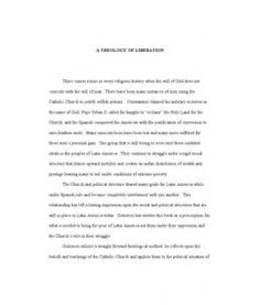 Theology essays
