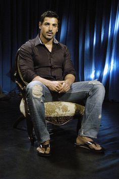 John Abraham during an interview - how much more down to earth can someone be