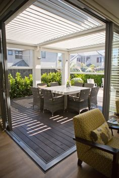 PVC Screens and Mesh Shade Blinds - Louvretec, Cafe style blinds Outdoor Blinds, Outdoor Shade, Outdoor Rooms, Outdoor Living, Outdoor Furniture Sets, Outdoor Decor, Deck With Pergola, Pergola Ideas, Screened Deck