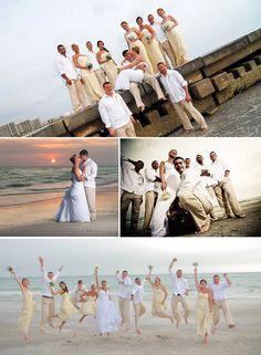 like the groomsmen, groom, and bride