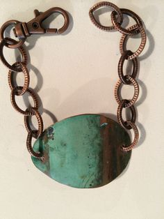 Piece of fabulous scrap roofing copper I made into a cool bracelet.