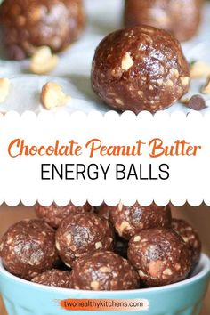 These Chocolate Peanut Butter Energy Balls are the perfect, nutrient-dense, healthy snack for all you Reese's Peanut Butter Cup lovers! They're so easy to make, and loaded up with yummy ingredients…