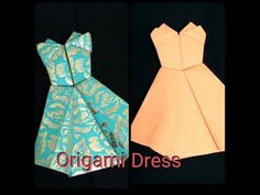 How to Make Origami Dress - Easy Tutorial for Beginners || Paper Craft || - YouTube