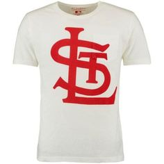 0096f85ff Men s Wright   Ditson White St. Louis Cardinals Heavy T-Shirt
