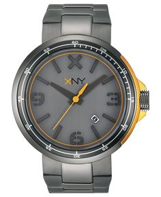 XNY Watch, Men's Urban Expedition Gray Ion-Plated Stainless Steel Bracelet 44mm BV8042X1 - Men's Watches - Jewelry & Watches - Macy's