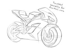 How to draw a motorbike step 5