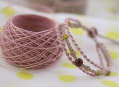 3連ブレスの作り方: チャムランの * ちょこっと編み方 *