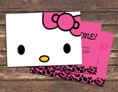 Cute Hello Kitty card- hand make?