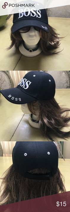 I'm the boss cap black cap Brand new stunning black unisex I am the boss cap. Adjustable strap in back to make hat larger or smaller. Accessories Hats