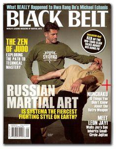 Our teacher, Vladimir Vasiliev featured in the cover of Black Belt magazine.