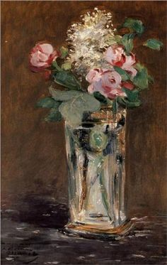 Flowers in a Crystal Vase - Edouard Manet
