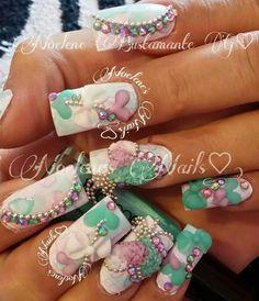 Sweety Nails.  Preciosas uñas con colores pastel.