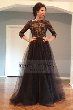 2015 3/4 Length Sleeve Mother Of The Bride Dresses A Line Tulle With Beading Floor Length