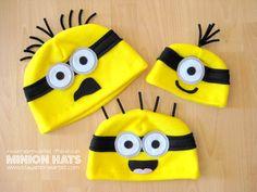 homemade fleece minion hats... (Stay-at-Home Artist)