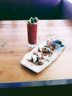 Fish Tacos and a Bloody Mary.
