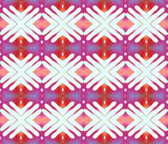 scan- my hand  - red fabric by koalalady on Spoonflower - custom fabric