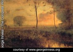 George Inness - Sunset at Montclair