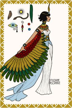 Maat - Egyptian Goddess of Justice and Truth - Doll Divine Dress Up Games