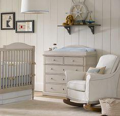 love this subtly nautical baby nursery