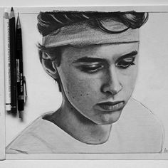 """I could never hate Even."" - Isak Valtersen (I mean... who tf could HATE this beautiful baby??) (I love his lashes. I like to draw them even longer than they already are ^^)#skamfanart #skam #evenbechnæsheim #evak #art"