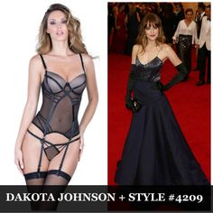 Dakota Johnson could be 50 Shades of Sexy in the Oh La La Cheri Merrywidow bustier