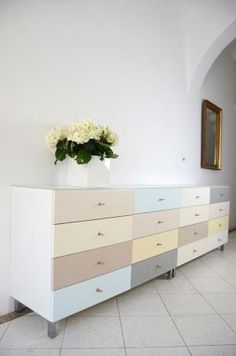 Ikea Besta hack - Creating a colourful sideboard by Theresa Neubauer by cynthia