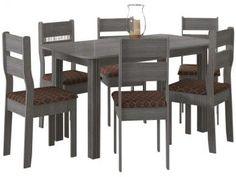 Conjunto de Mesa com 6 Cadeiras Indekes - Fenix