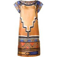 Alberta Ferretti geometric print dress (11 660 UAH) ❤ liked on Polyvore featuring dresses, multicolour, alberta ferretti dresses, geo print dress, multi-color dress, geo dress and multi colored dress