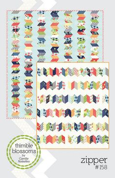 Zipper quilt pattern | Camille Roskelley
