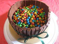 Chocolate kitkat and m&M cake