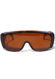 Smoke Frame Sunglasses will have you ready for the apocalypse. These all over shade brown sunnies have a shield frame that will protect ya from those rays.