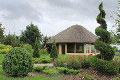 kompozycja roślin przy kuchni letniej w ogrodzie przydomowym projektu autorstwa: PracowniaOkaz