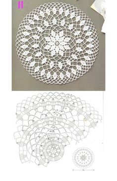 Ideas For Crochet Bag Flower Beautiful Mandala Au Crochet, Crochet Doily Diagram, Crochet Circles, Crochet Doily Patterns, Crochet Round, Crochet Home, Thread Crochet, Irish Crochet, Crochet Doilies