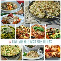 27 Low Carb Keto Pasta Substitutions | Healthy Living in Body and Mind  via @peaceloveandlocarb