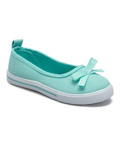 Love this Teal Bow Slip-On Sneaker on #zulily! #zulilyfinds
